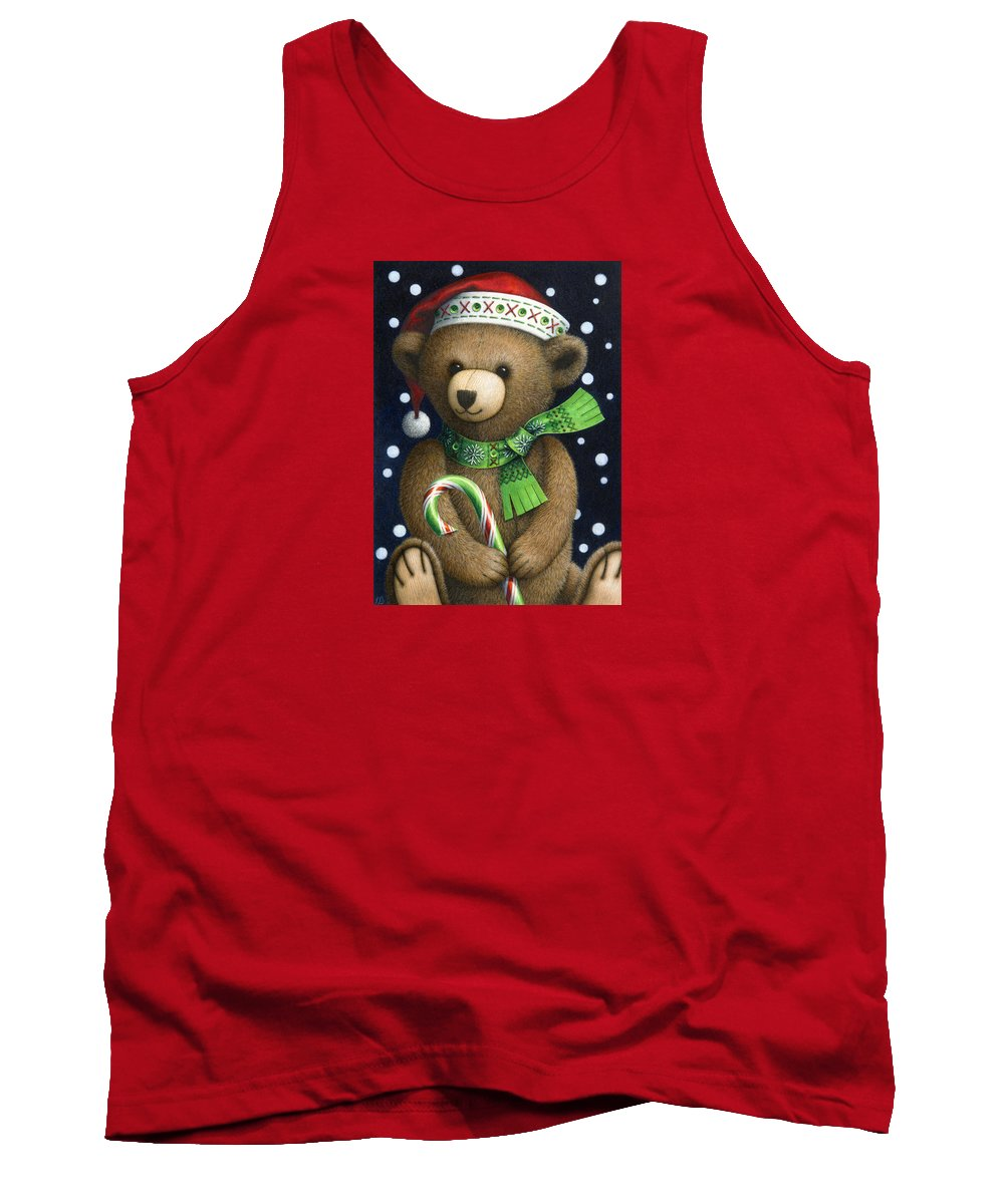 Christmas Tank Top featuring the painting Big Teddy by Lynn Bywaters