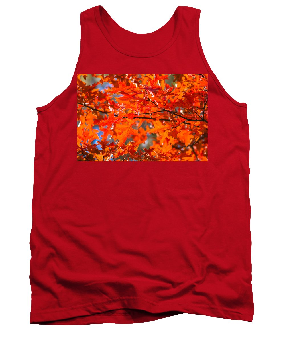 Abstract Tank Top featuring the photograph Blazing Maple by Alexander Senin