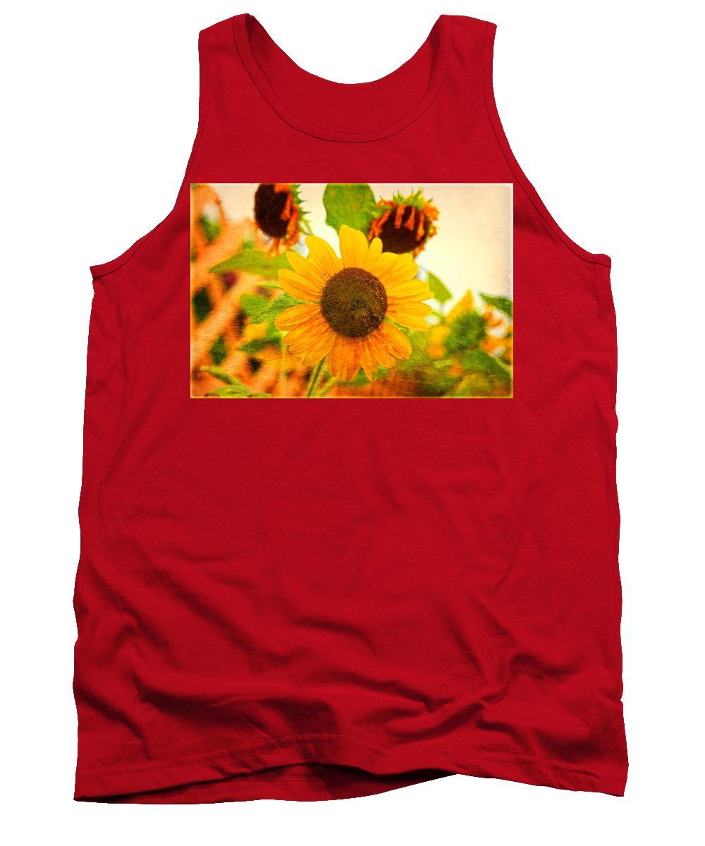 Sunflower Tank Top featuring the photograph Blossoming Sunflower Beauty by Toni Hopper