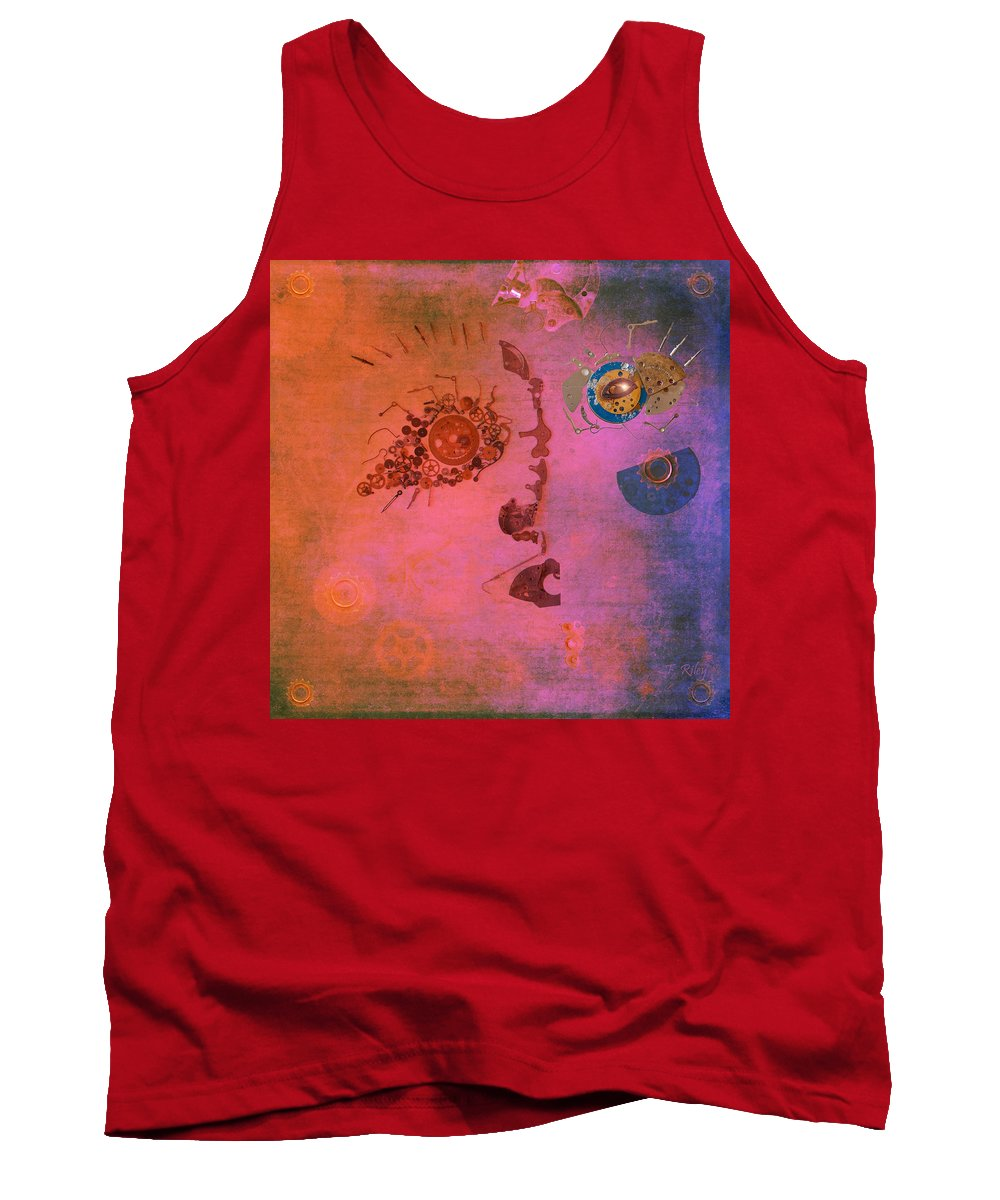 Face Tank Top featuring the photograph Blushing Bot by Fran Riley