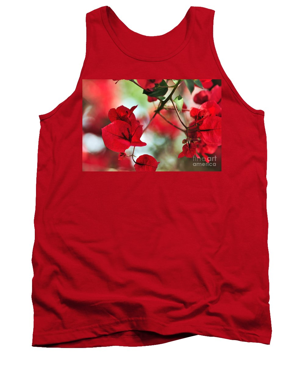 Photography Tank Top featuring the photograph Bougainvillea Beauty by Kaye Menner