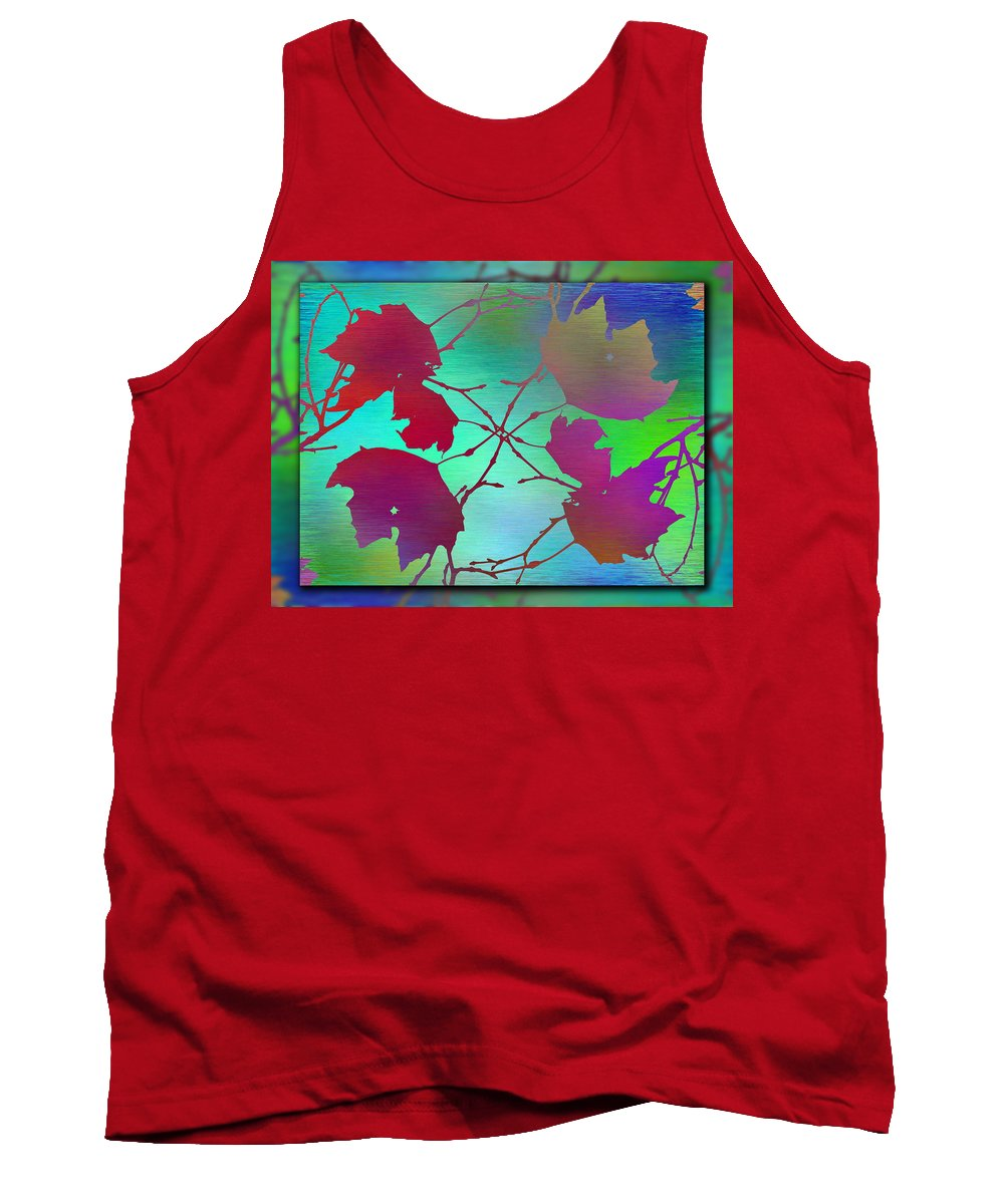 Abstract Tank Top featuring the digital art Branches In The Mist 72 by Tim Allen