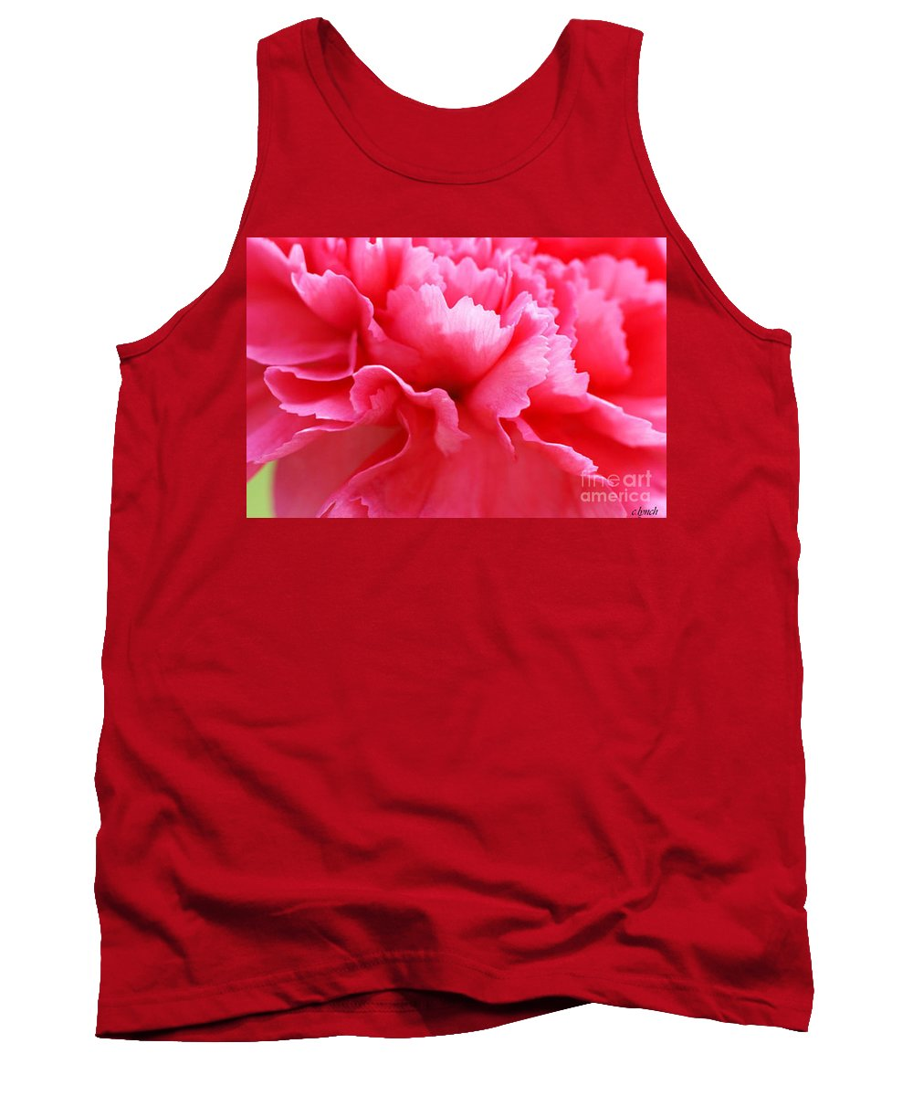 Carnation Tank Top featuring the photograph Bright Carnation by Carol Lynch