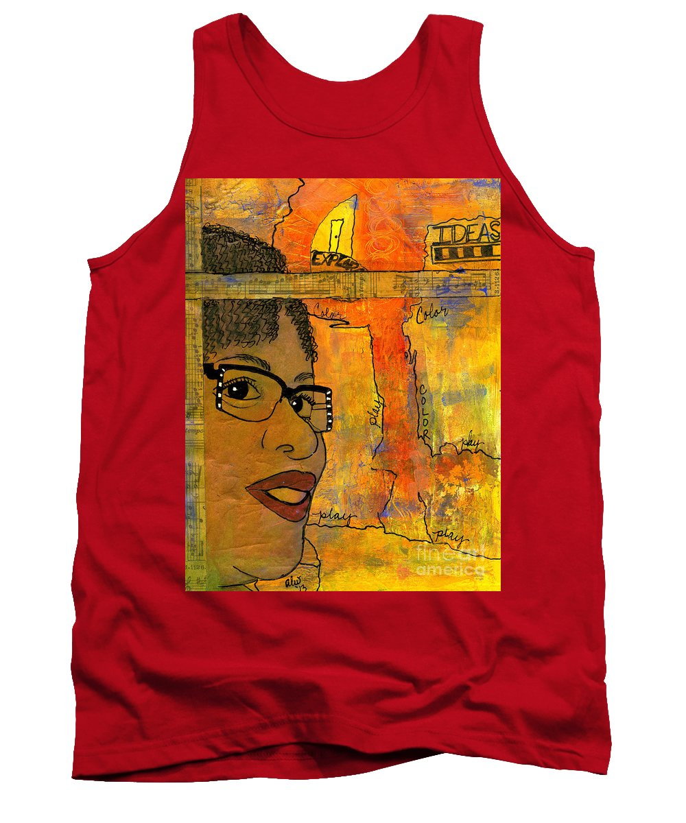 Journal Art Tank Top featuring the mixed media Bright Ideas by Angela L Walker