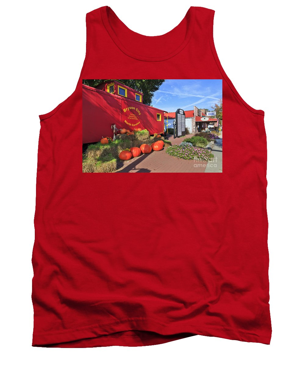 Bryson Tank Top featuring the photograph Bryson City North Carolina In The Fall by Jill Lang