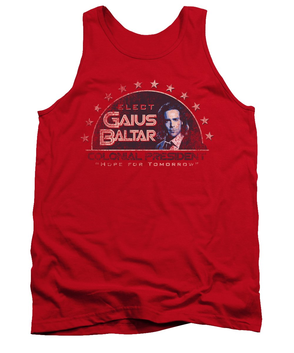 Battlestar Tank Top featuring the digital art Bsg - Elect Gaius by Brand A