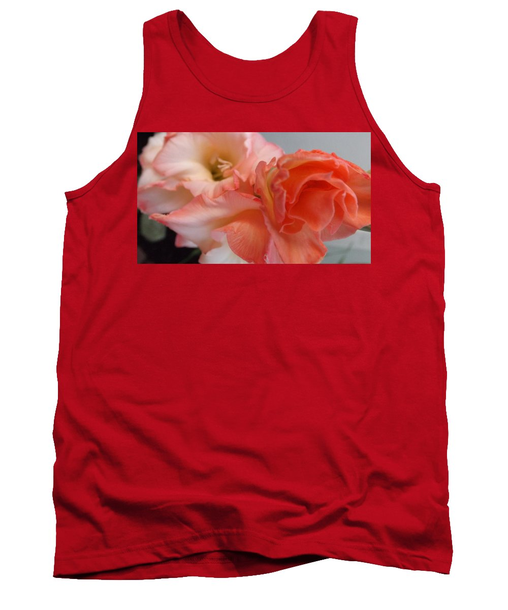 Gladiola Tank Top featuring the photograph Budding Gladiolas by Jussta Jussta