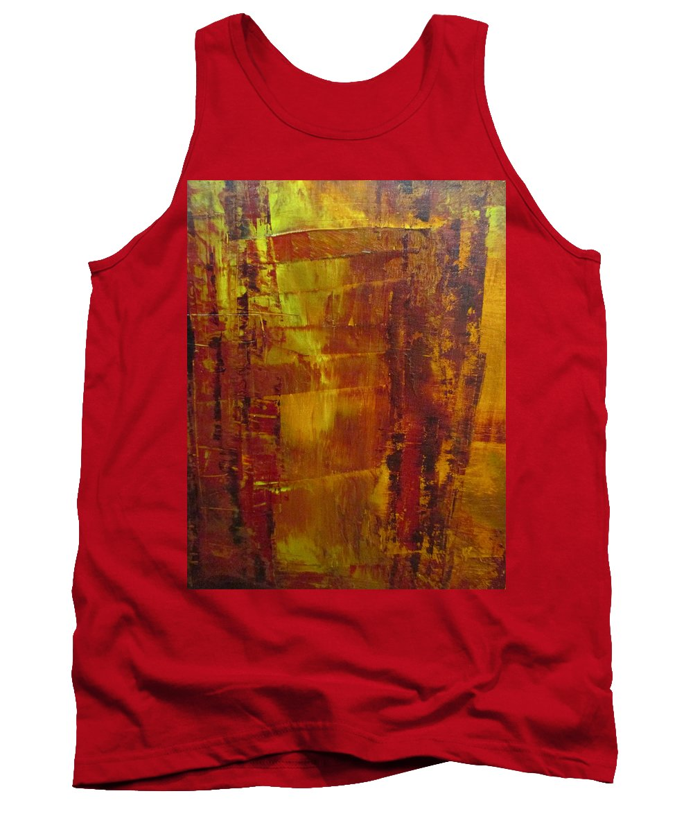 Fire Tank Top featuring the painting Burn by Janice Nabors Raiteri