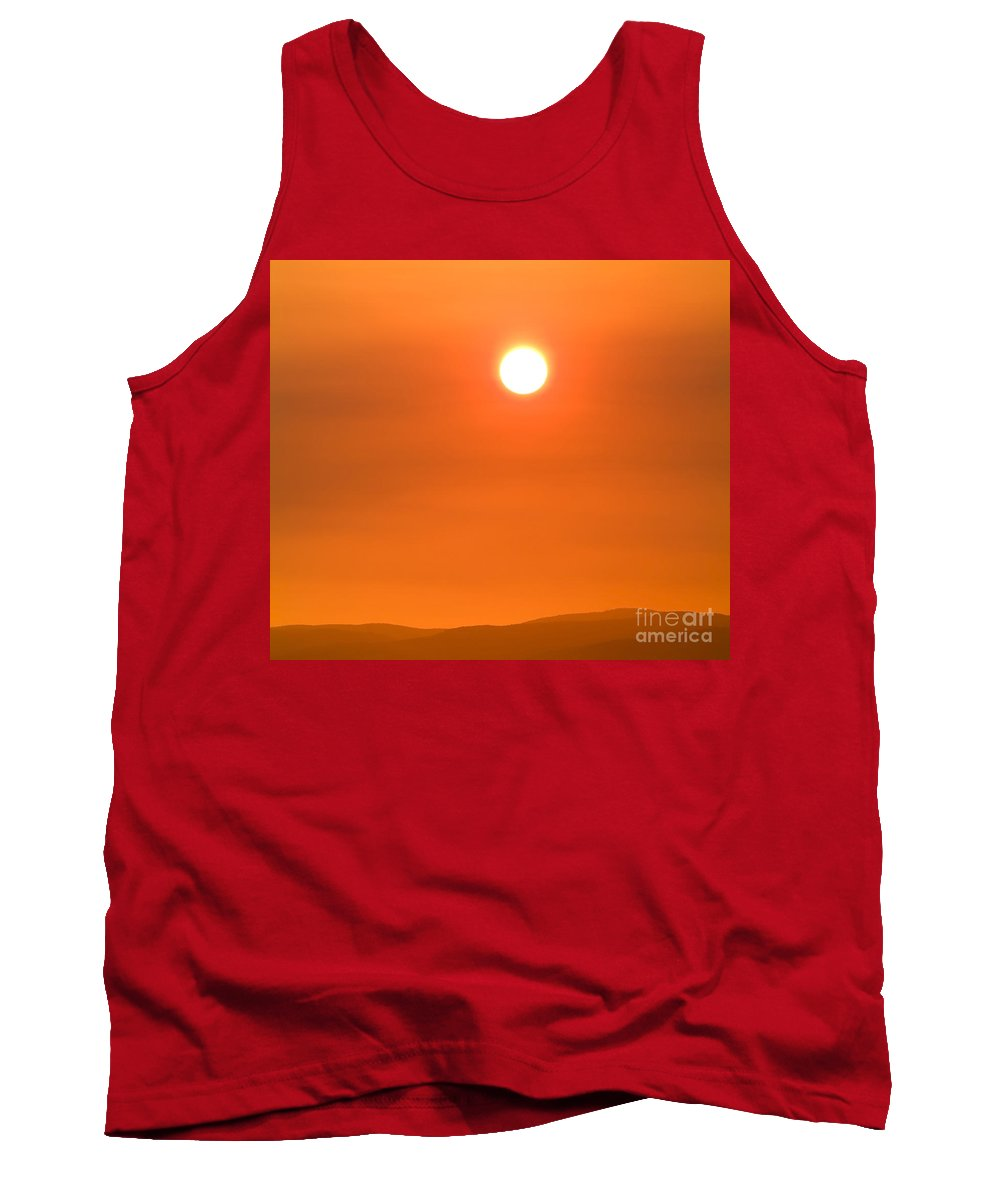 Sun Tank Top featuring the photograph Burning Sun by Tim Hester