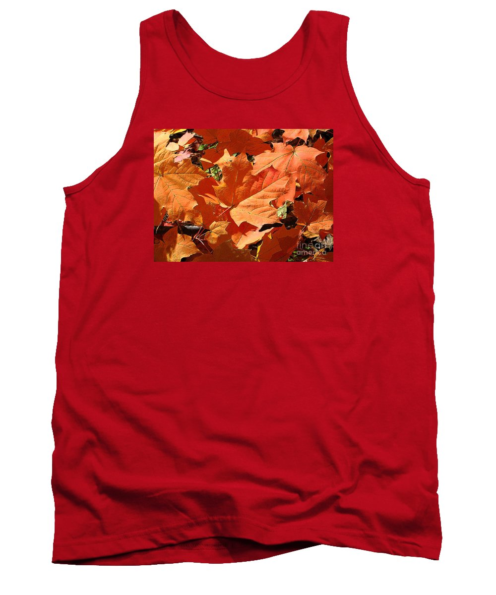 Autumn Tank Top featuring the photograph Burnt Orange by Ann Horn