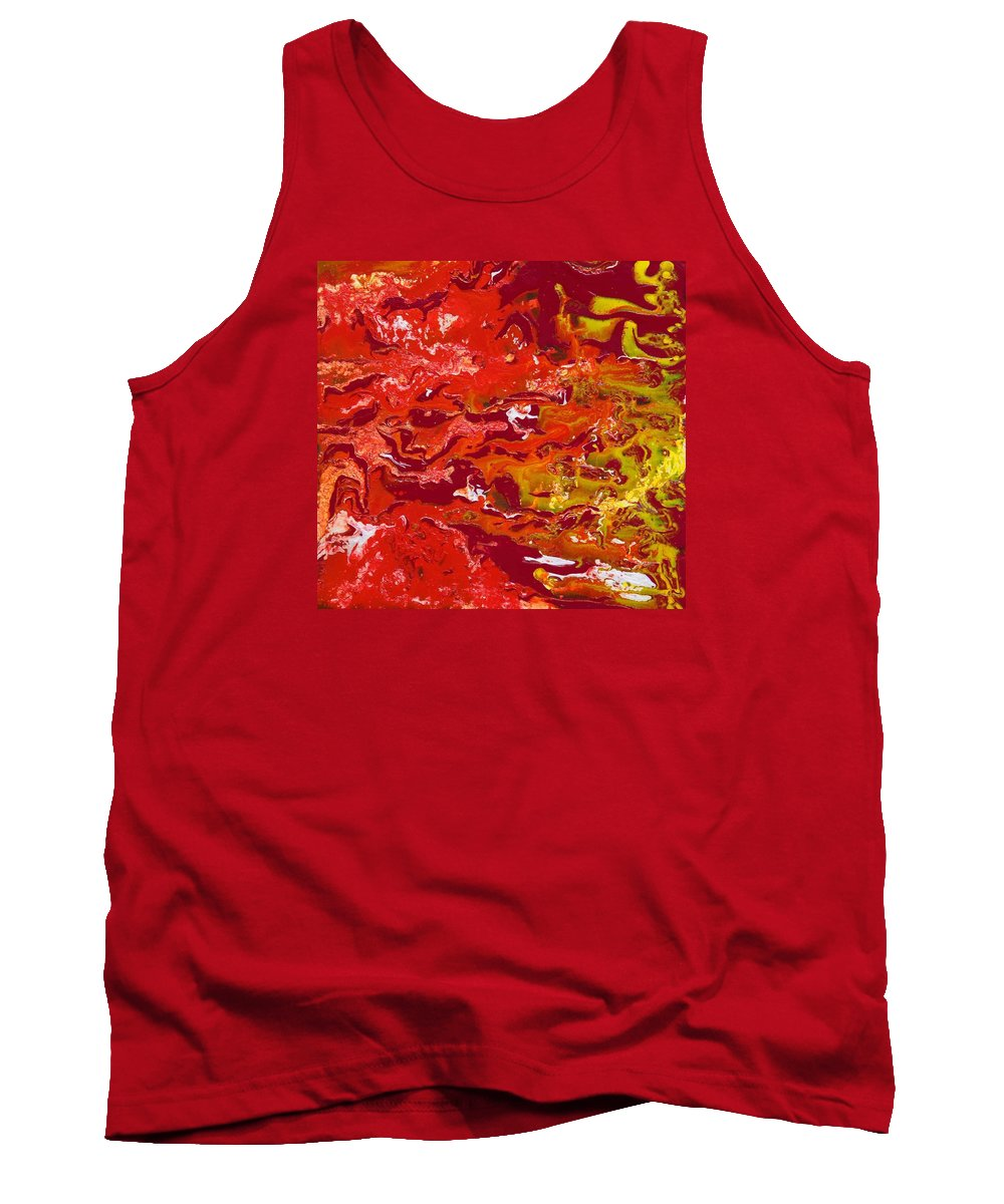 Fusionart Tank Top featuring the painting Caliente by Ralph White