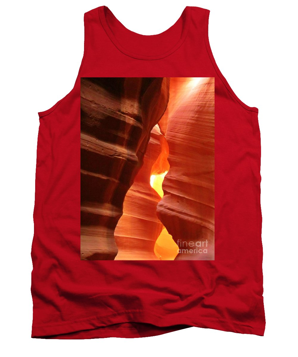 Candle Flame At Antelope Canyon Tank Top featuring the photograph Candle Flame At Antelope Canyon by John Malone