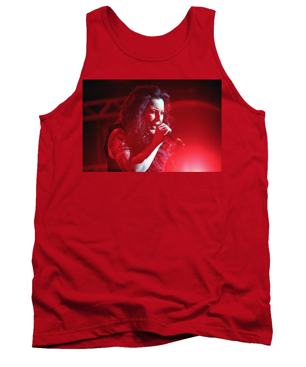 Carly Smithson Tank Top featuring the photograph Carly And The Concert Lighting by Shoal Hollingsworth