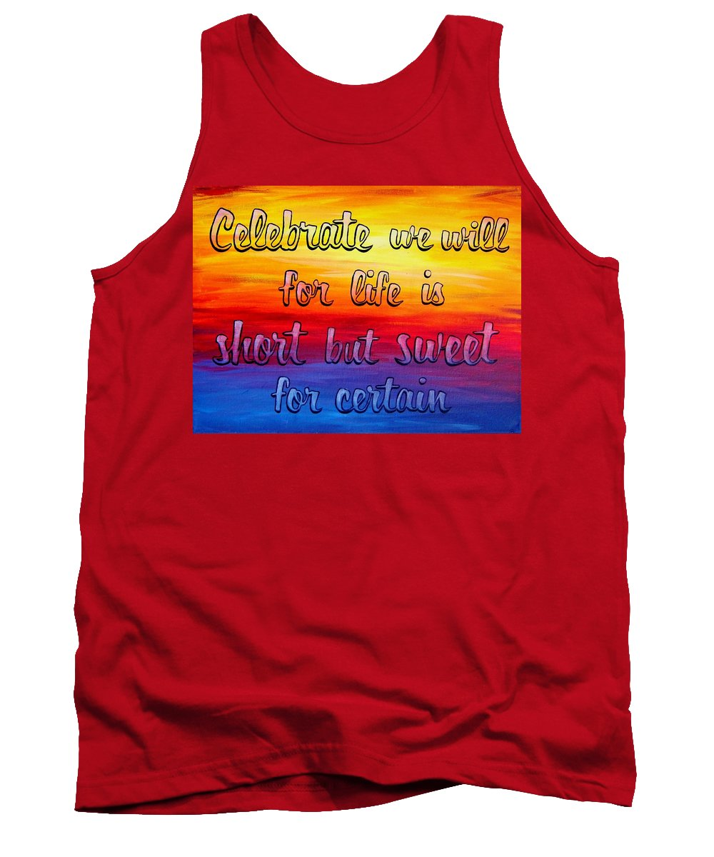 Dave Matthews Band Tank Top featuring the painting Celebrate We Will- Dmb Art by Michelle Eshleman