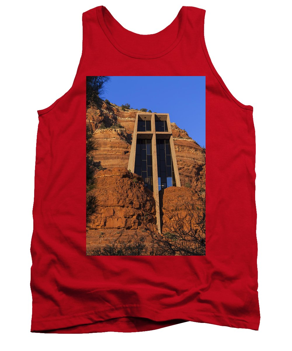 Architecture Tank Top featuring the photograph Chapel In The Rock by Ed Gleichman