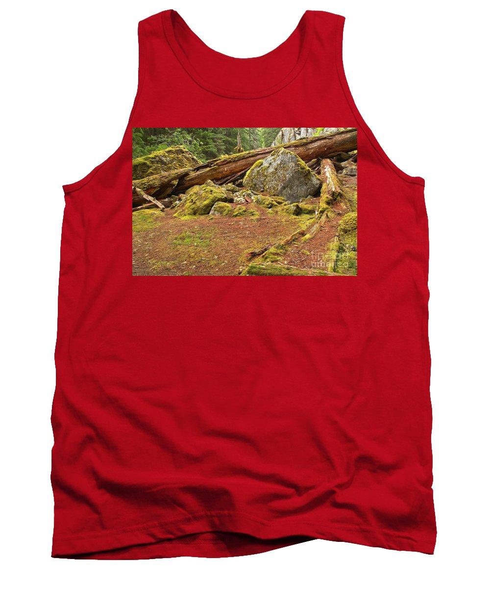 Cheakamus Lake Tank Top featuring the photograph Cheakamus Rainforest Debris by Adam Jewell