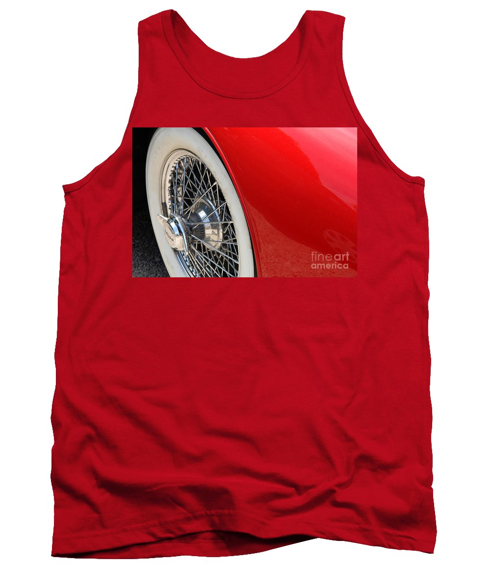 Car Tank Top featuring the photograph Chrome Spokes by Brothers Beerens