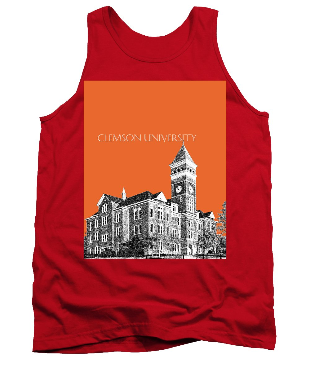 University Tank Top featuring the digital art Clemson University - Coral by DB Artist