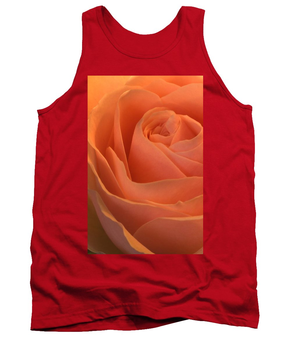 Bloom Tank Top featuring the photograph Close Up Of A Rose Bud by Alan Marsh