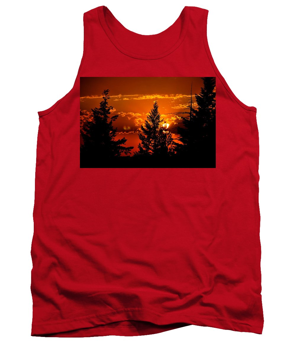 Sunset Tank Top featuring the photograph Colorful Sunset IIl by Kathy Sampson
