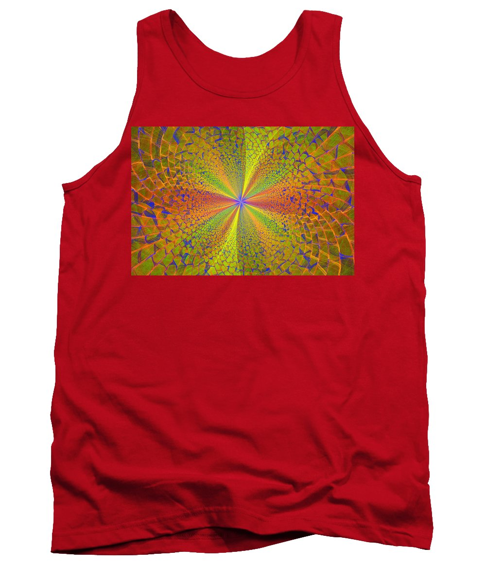 Digital Fractals Tank Top featuring the photograph Computer Generated Fractal Art by Keith Webber Jr