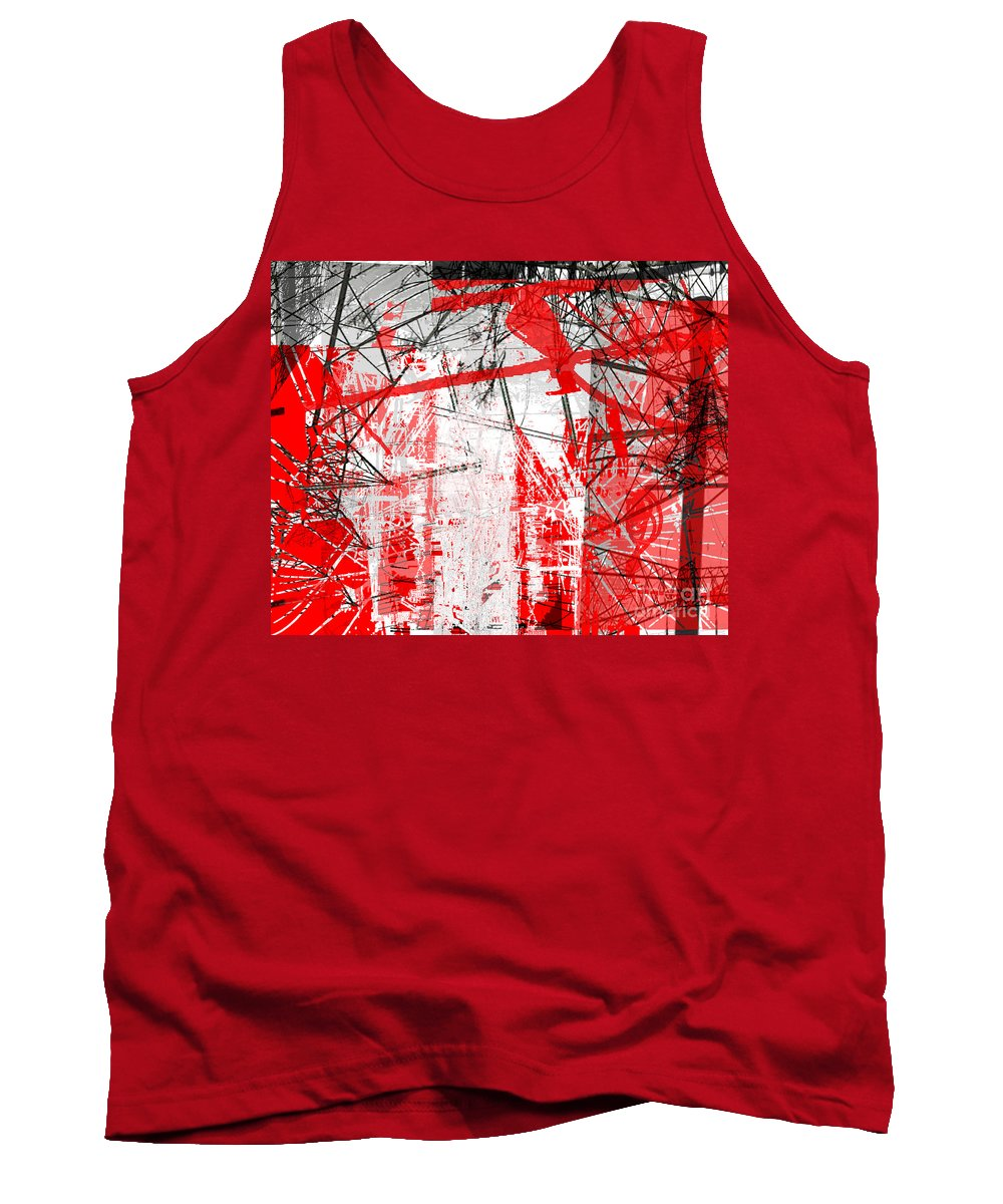 Brandon Lynch Tank Top featuring the digital art Connection 21 by Brandon Lynch