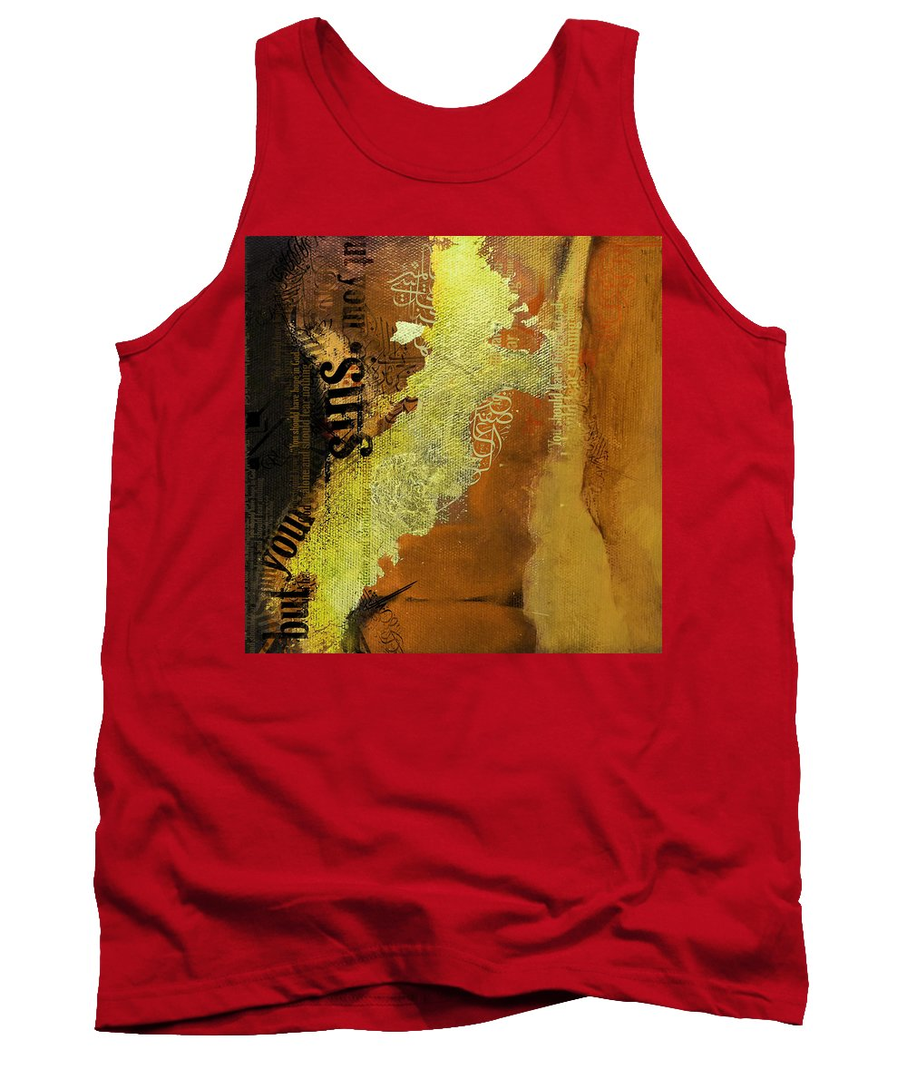 Hazrat Ali Tank Top featuring the painting Contemporary Islamic Art 064b by Corporate Art Task Force