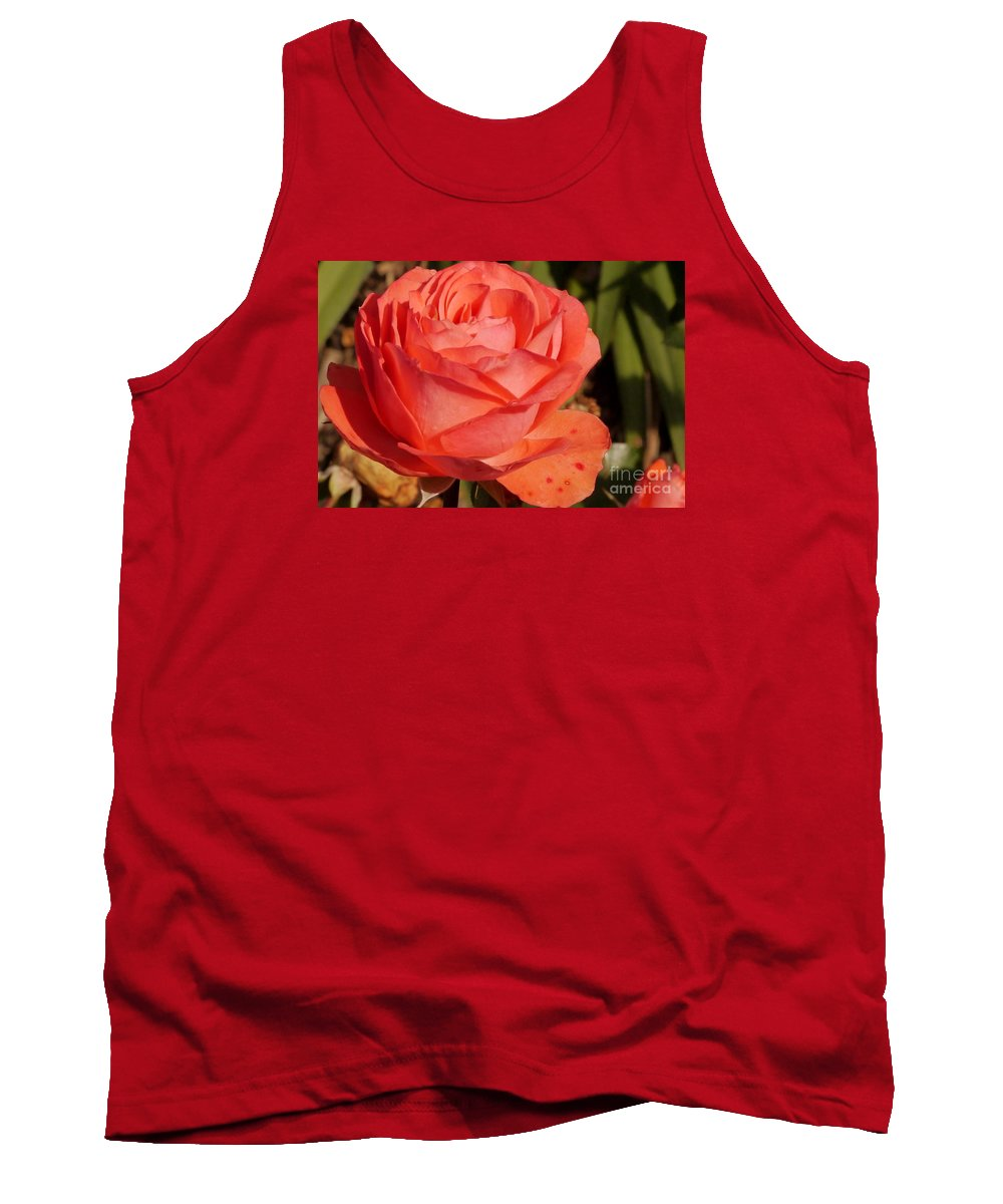 Coral Rose Tank Top featuring the photograph Coral Surprise by Christiane Schulze Art And Photography