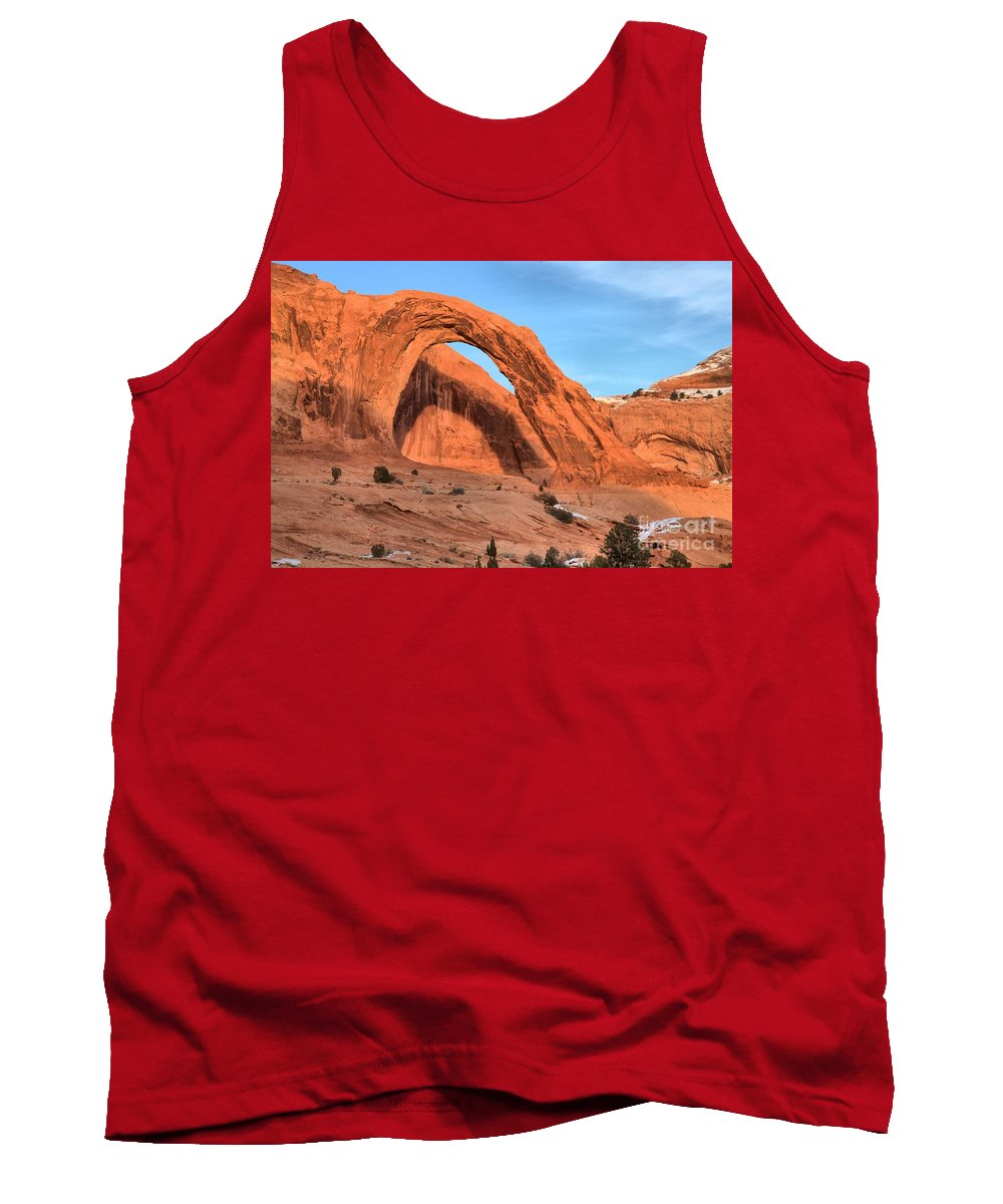 Coronoa Arch Tank Top featuring the photograph Corona Arch Canyon by Adam Jewell