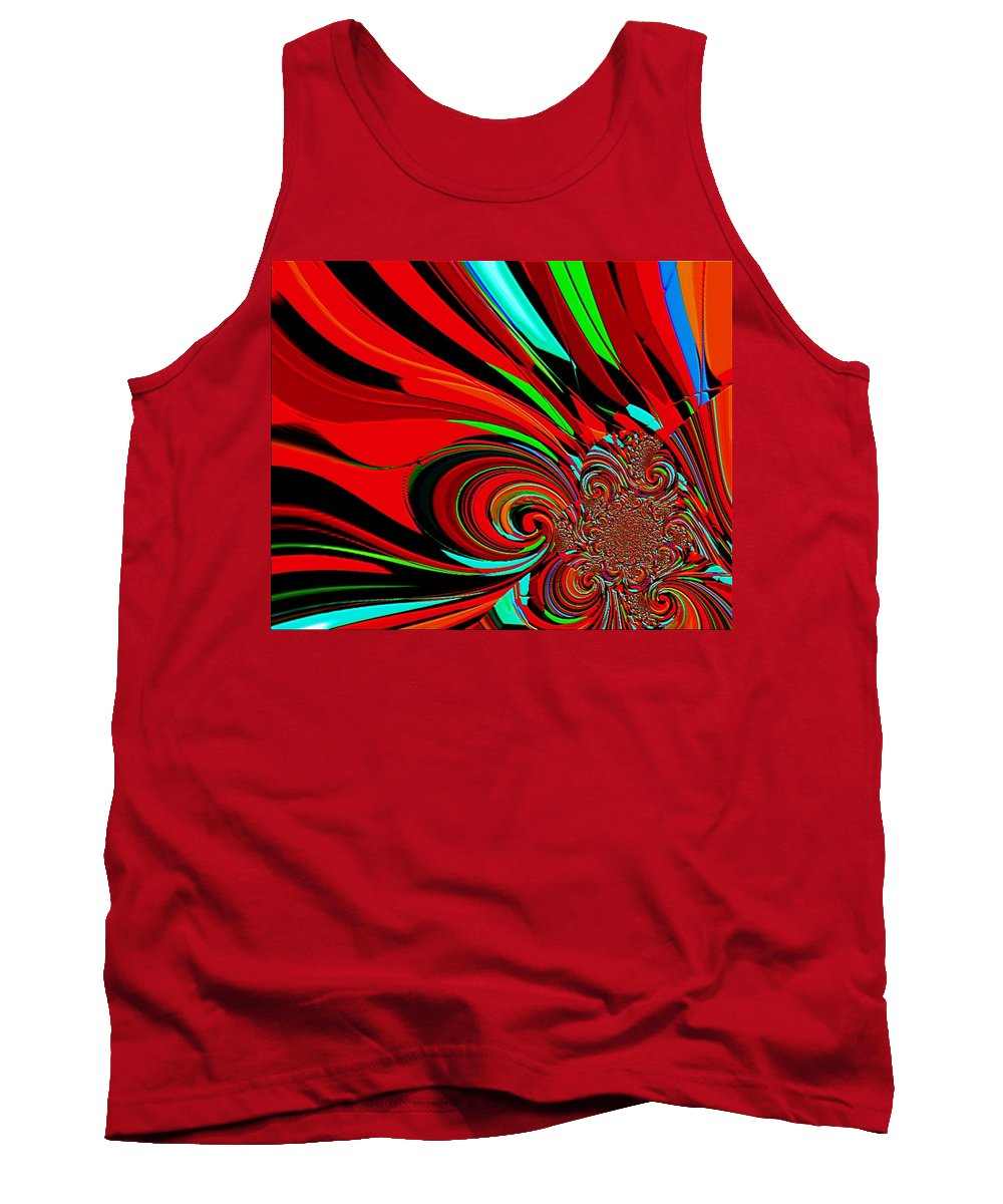Cosmic Wimpout. Tournament Tank Top featuring the painting Cosmic Wimpout 1980 by Cliff Wilson