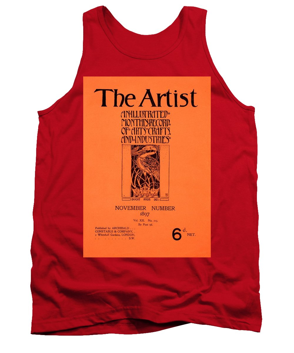 The Artist Tank Top featuring the painting Cover For The Artist Magazine, November 1897 by English School