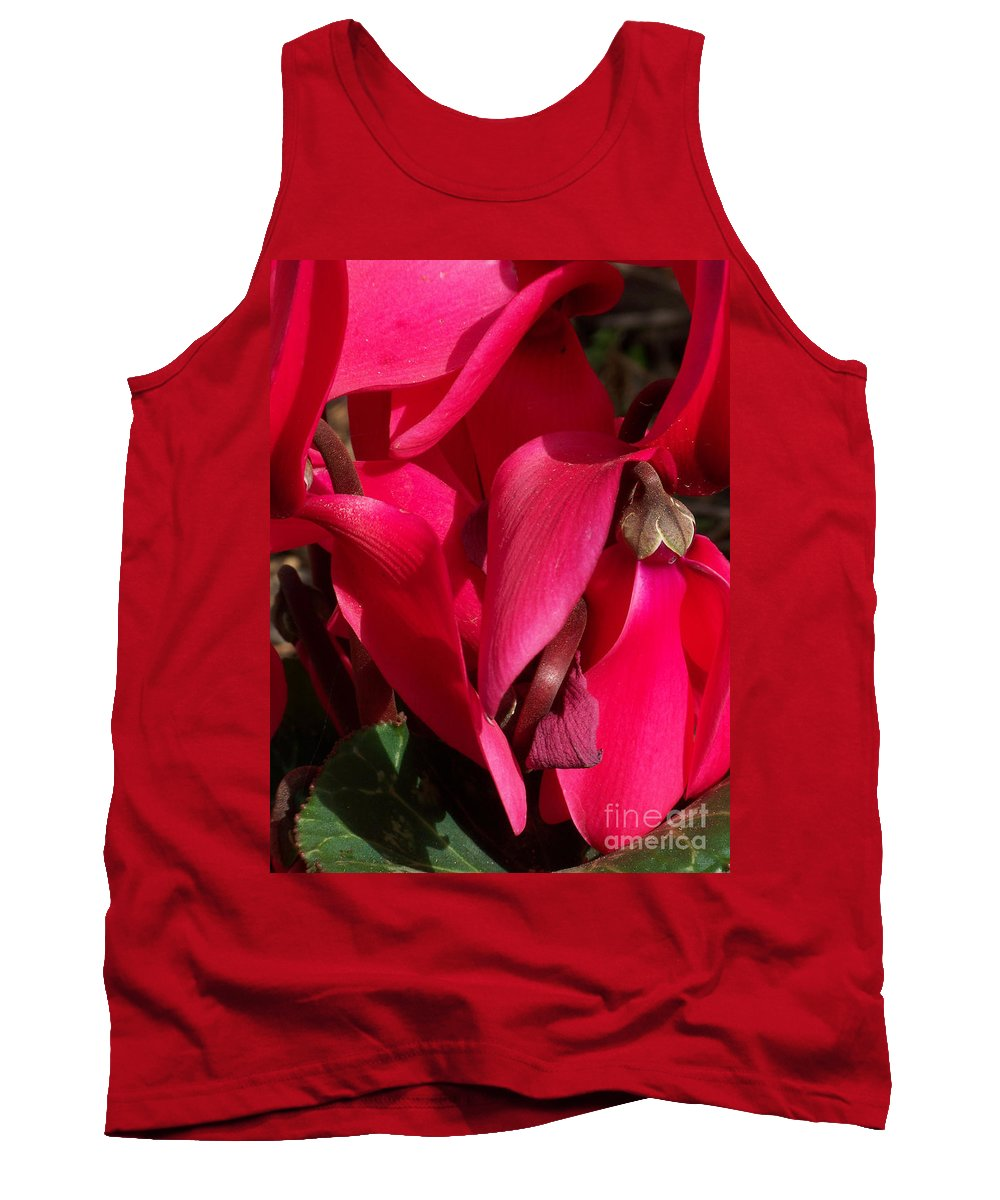 Flowers Tank Top featuring the photograph Cyclamen by Kathy McClure