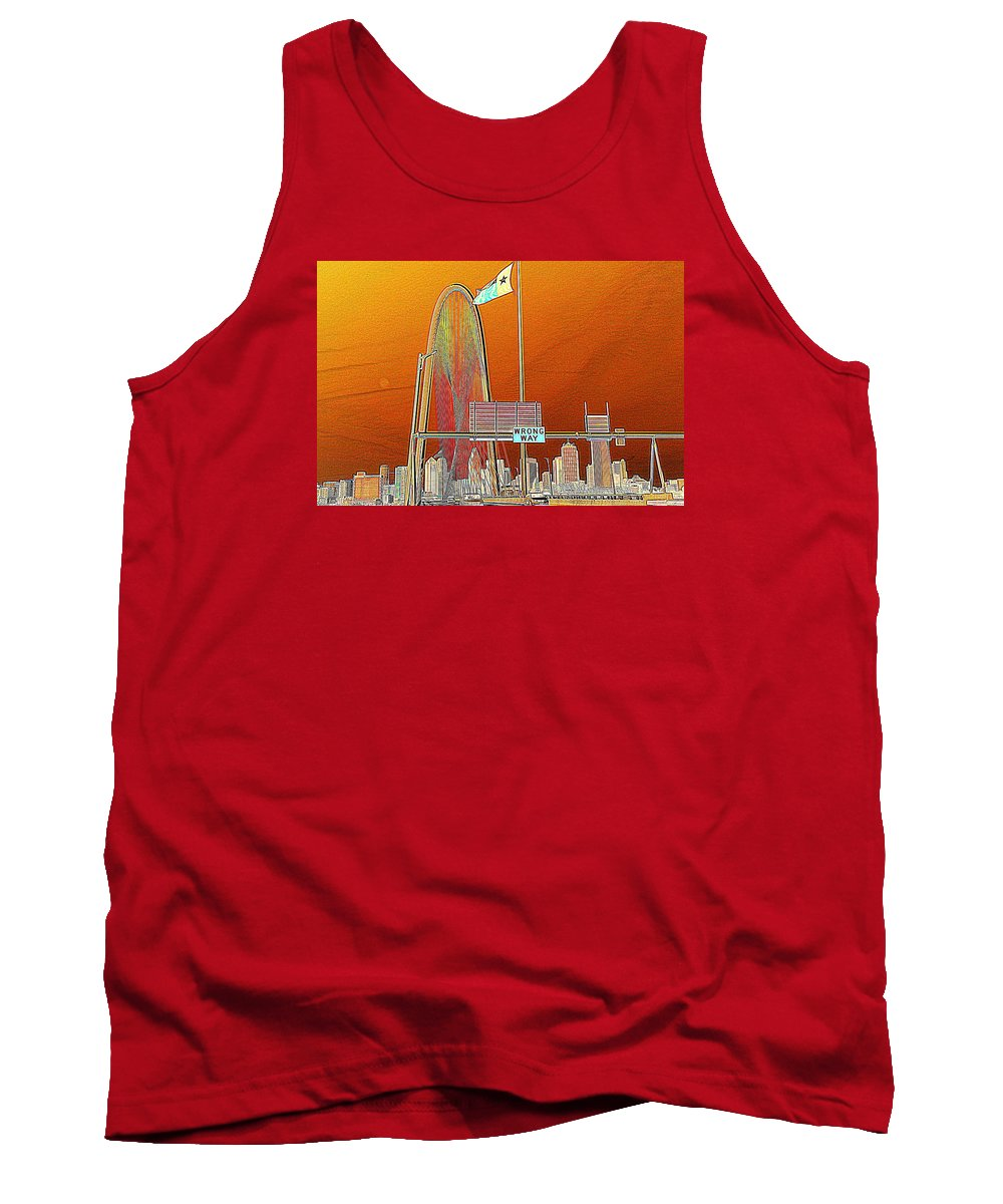 Cityscape Tank Top featuring the photograph Mhh Bridge Abstract by Diana Mary Sharpton