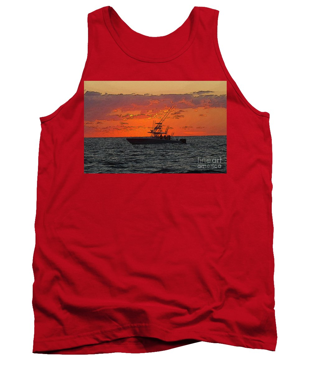 Sportfishing Tank Top featuring the photograph Day Break by Carey Chen