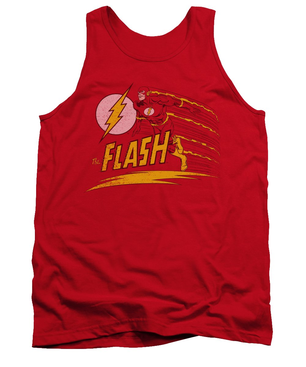 Dc Comics Tank Top featuring the digital art Dc - Like Lightning by Brand A