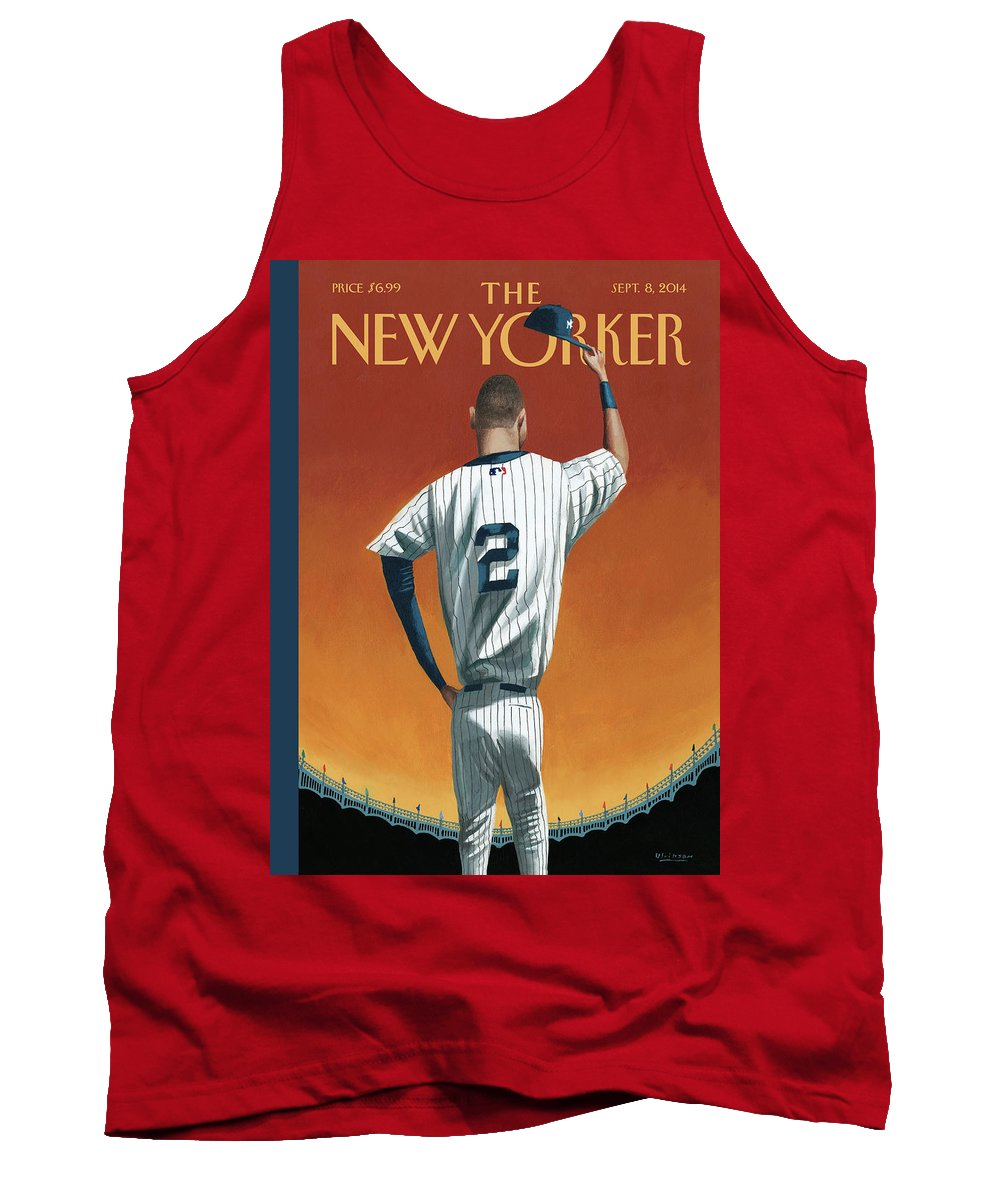 Retirement Tank Top featuring the painting Derek Jeter Bows Out by Mark Ulriksen