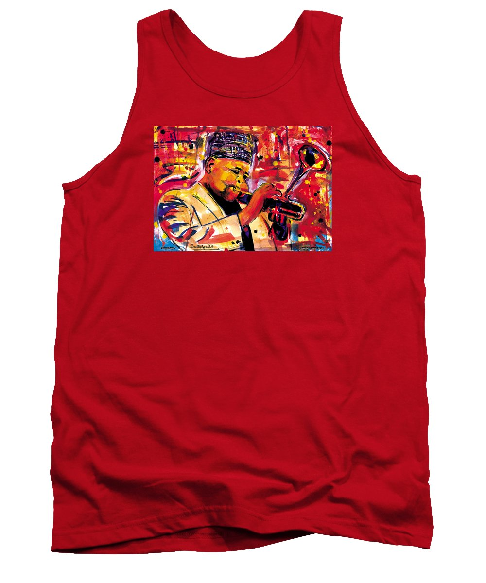 Dizzy Gillespie Tank Top featuring the painting Dizzy Gillespie by Everett Spruill