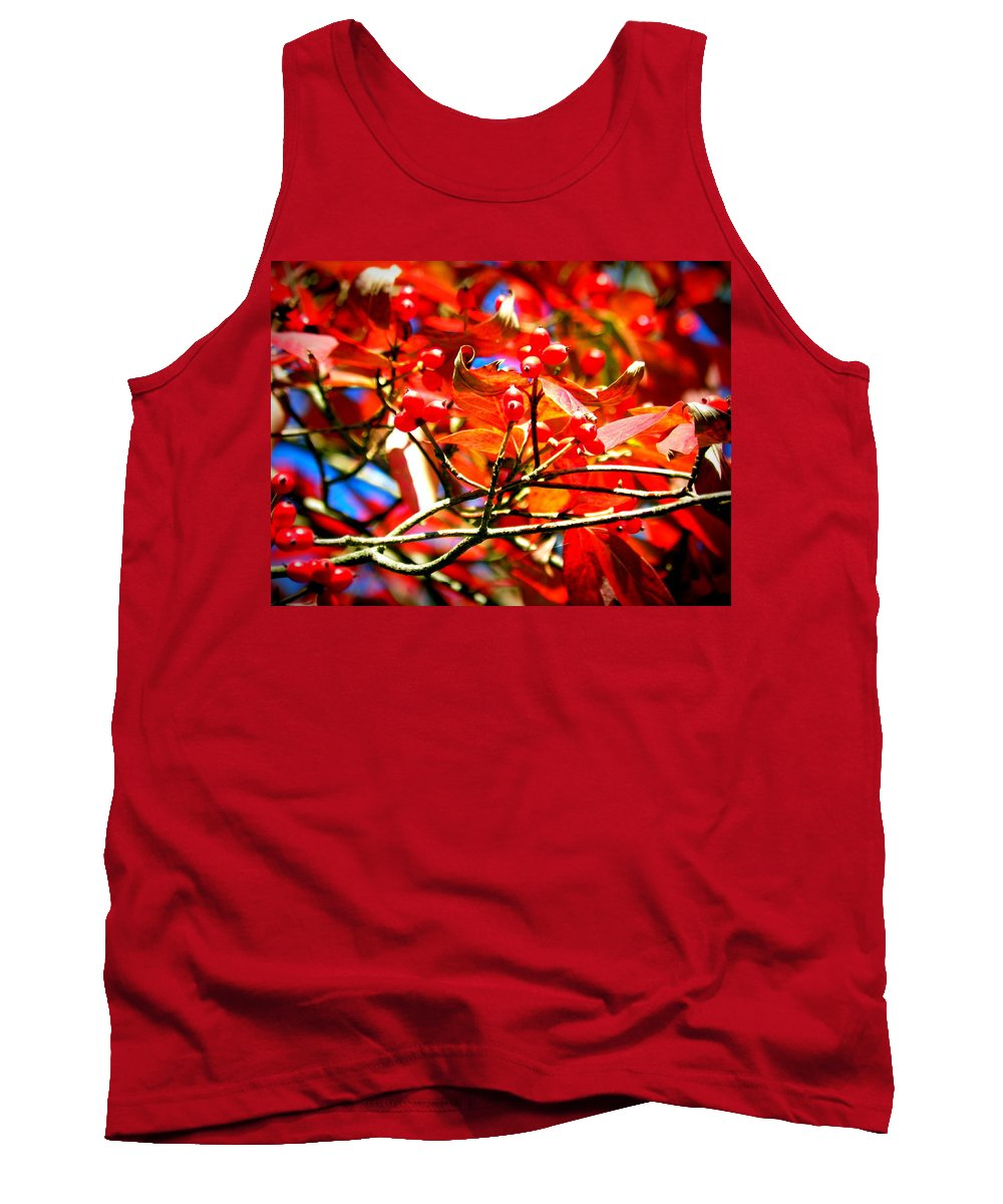 Dogwood In Autumn Tank Top featuring the photograph Dogwood In Autumn by Lisa Wooten
