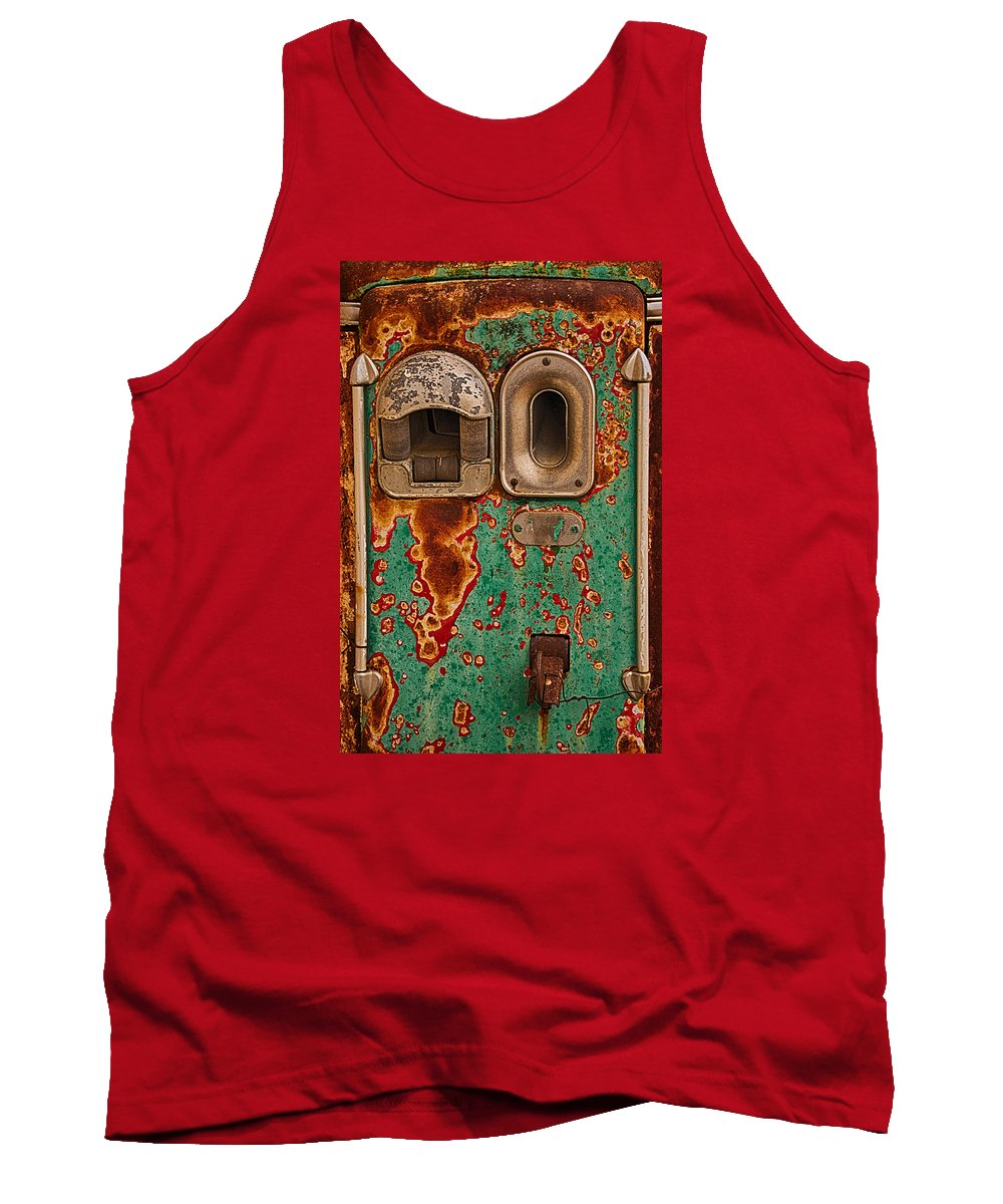 Done Pumpin' Tank Top featuring the photograph Done Pumpin' by Priscilla Burgers
