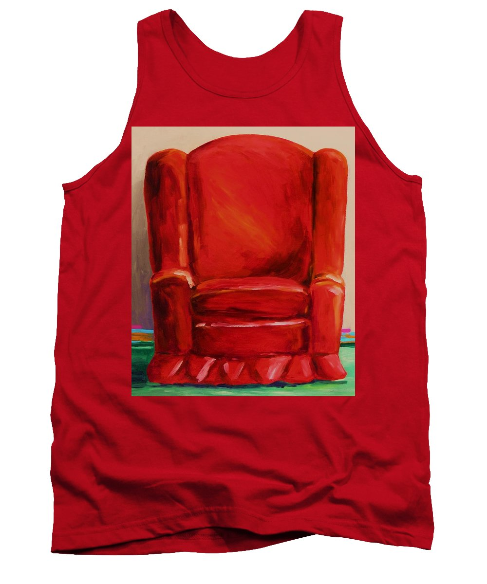 Red Chair Tank Top featuring the painting Draft Dodger by John Williams