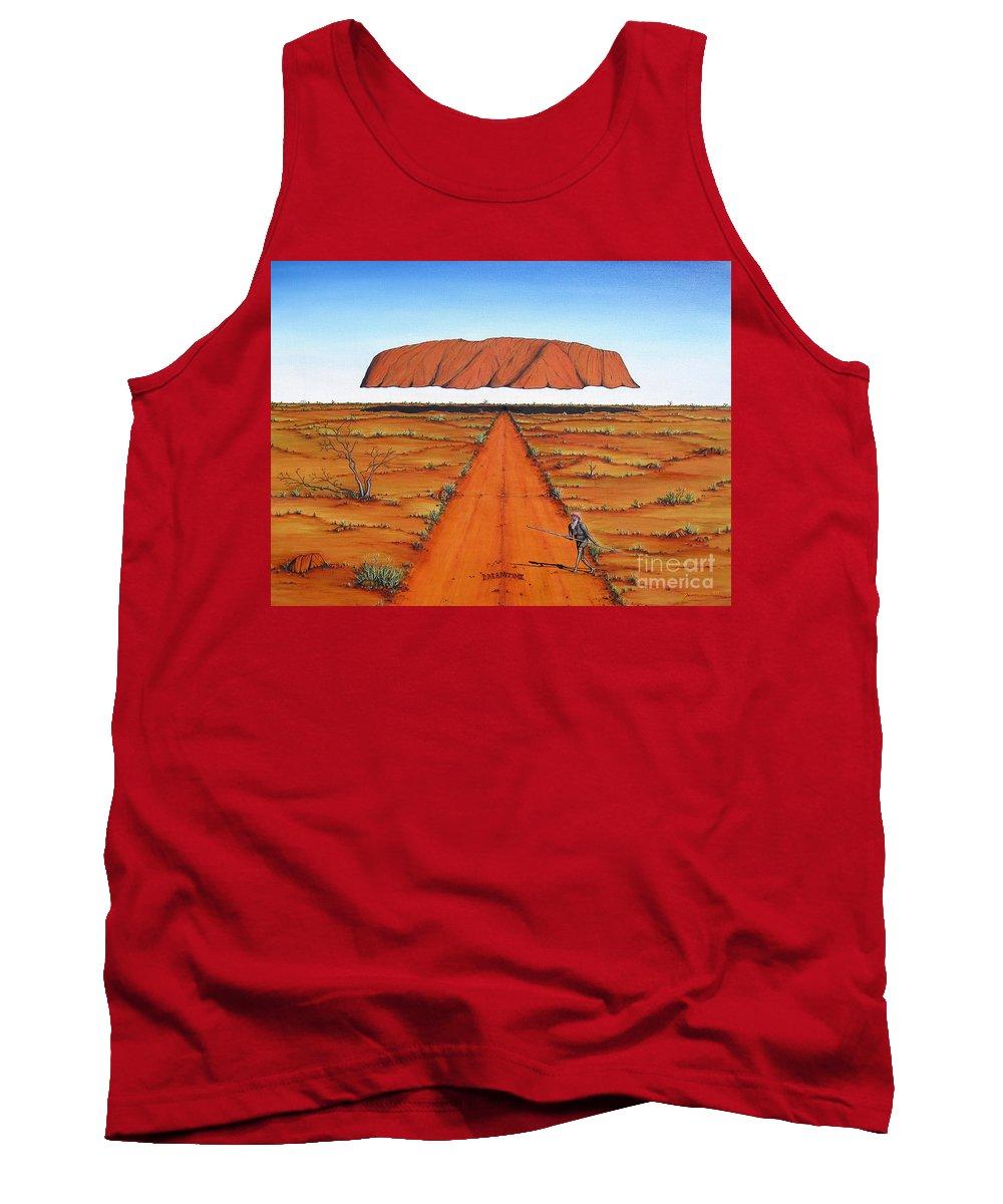 Australia Tank Top featuring the painting Dreamtime Australia by Jerome Stumphauzer