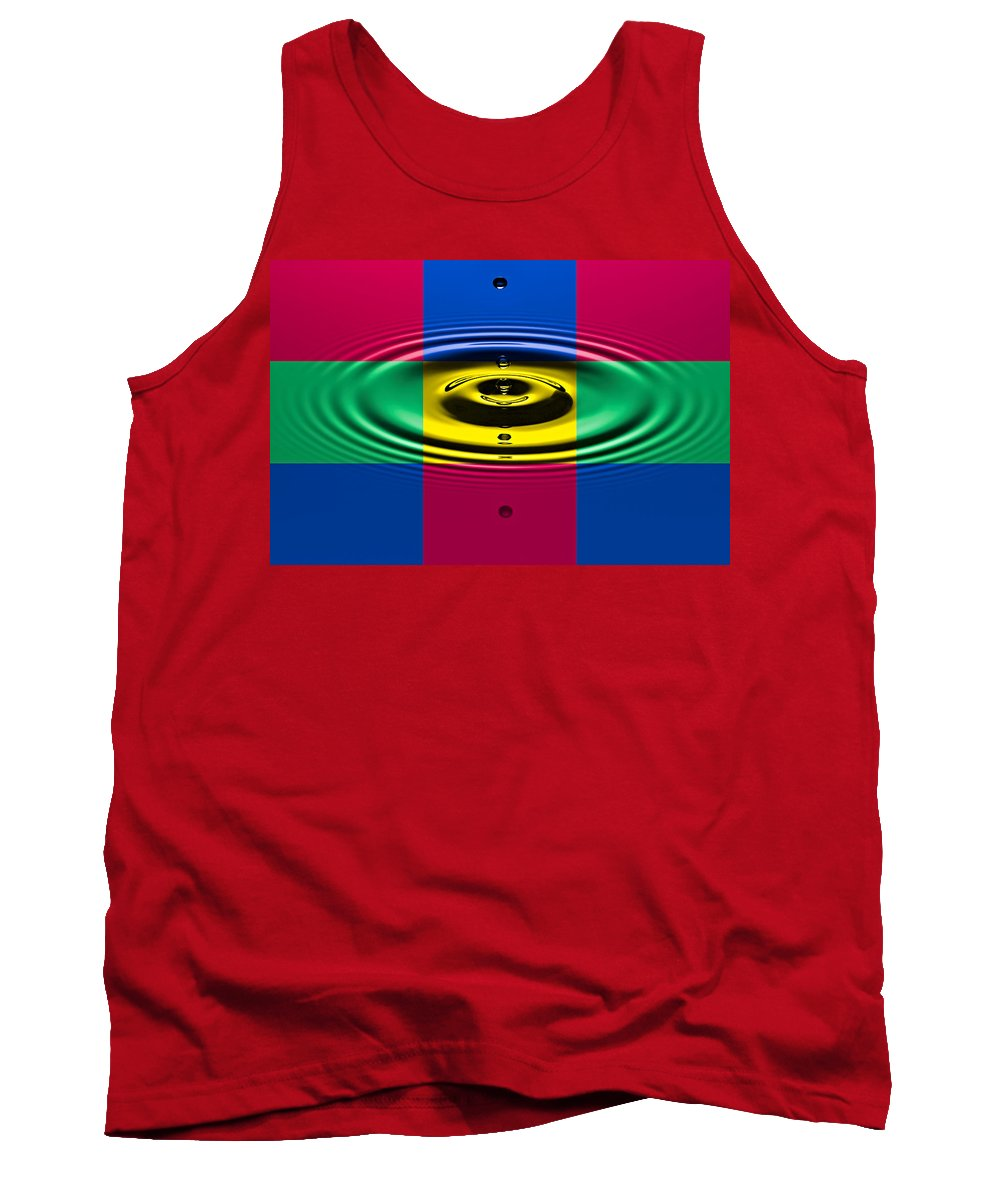 Water Tank Top featuring the photograph Drips And Drops by Susan Candelario