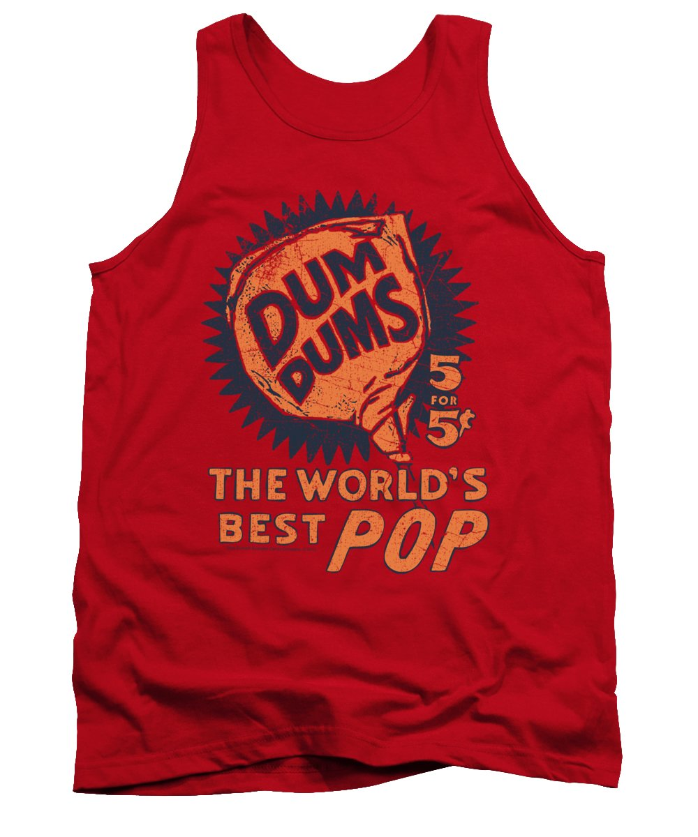 Dum Dums Tank Top featuring the digital art Dum Dums - 5 For 5 by Brand A