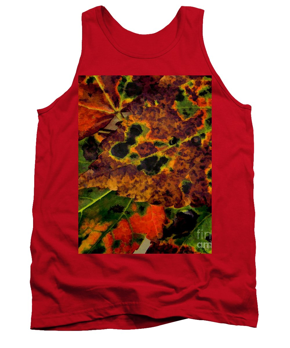 Abstracts Tank Top featuring the photograph Early To Fall by Siera Anthony