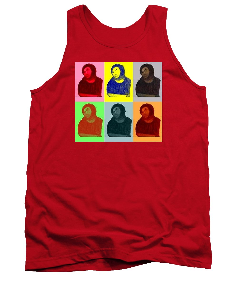 Art Tank Top featuring the painting Ecce Homo Warhol Style by Sam Mart