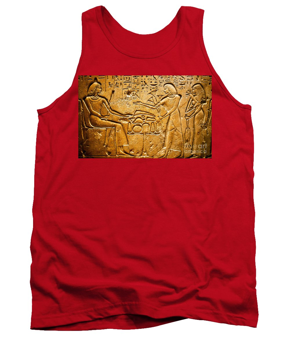 Egyptian Tank Top featuring the photograph Egyptian Hieroglyphics by Phill Petrovic