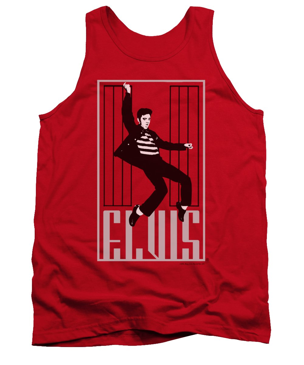Elvis Tank Top featuring the digital art Elvis - One Jailhouse by Brand A