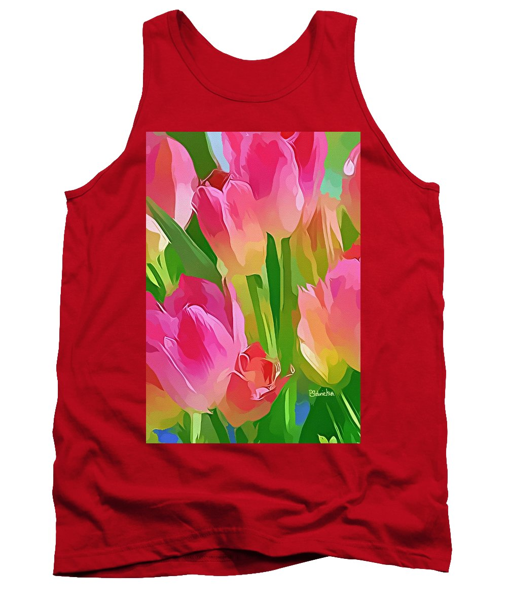 Tulips Tank Top featuring the digital art Encouragement by Peggy Gabrielson