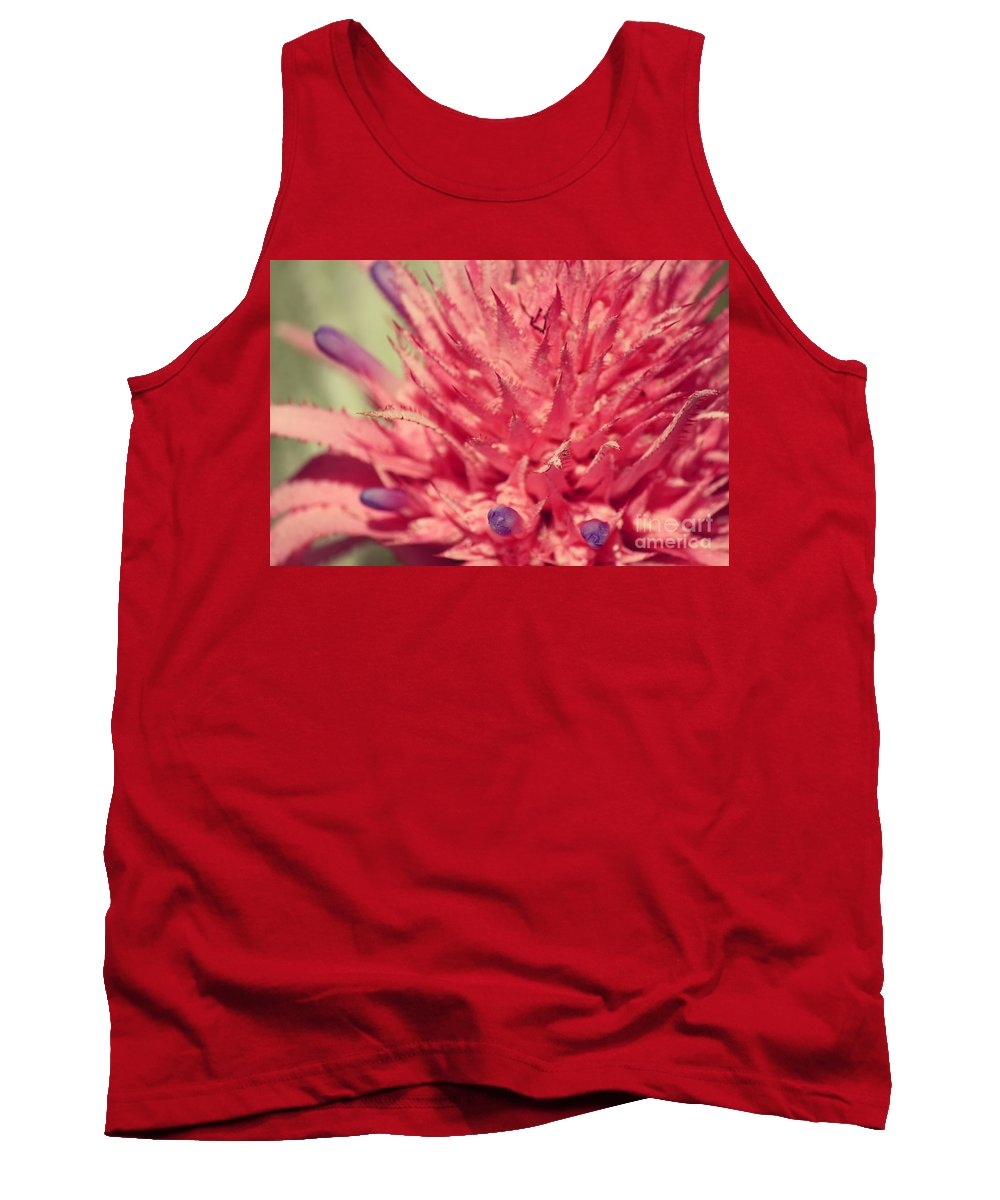 Photography Tank Top featuring the photograph Exploding Pink Flower by Jackie Farnsworth
