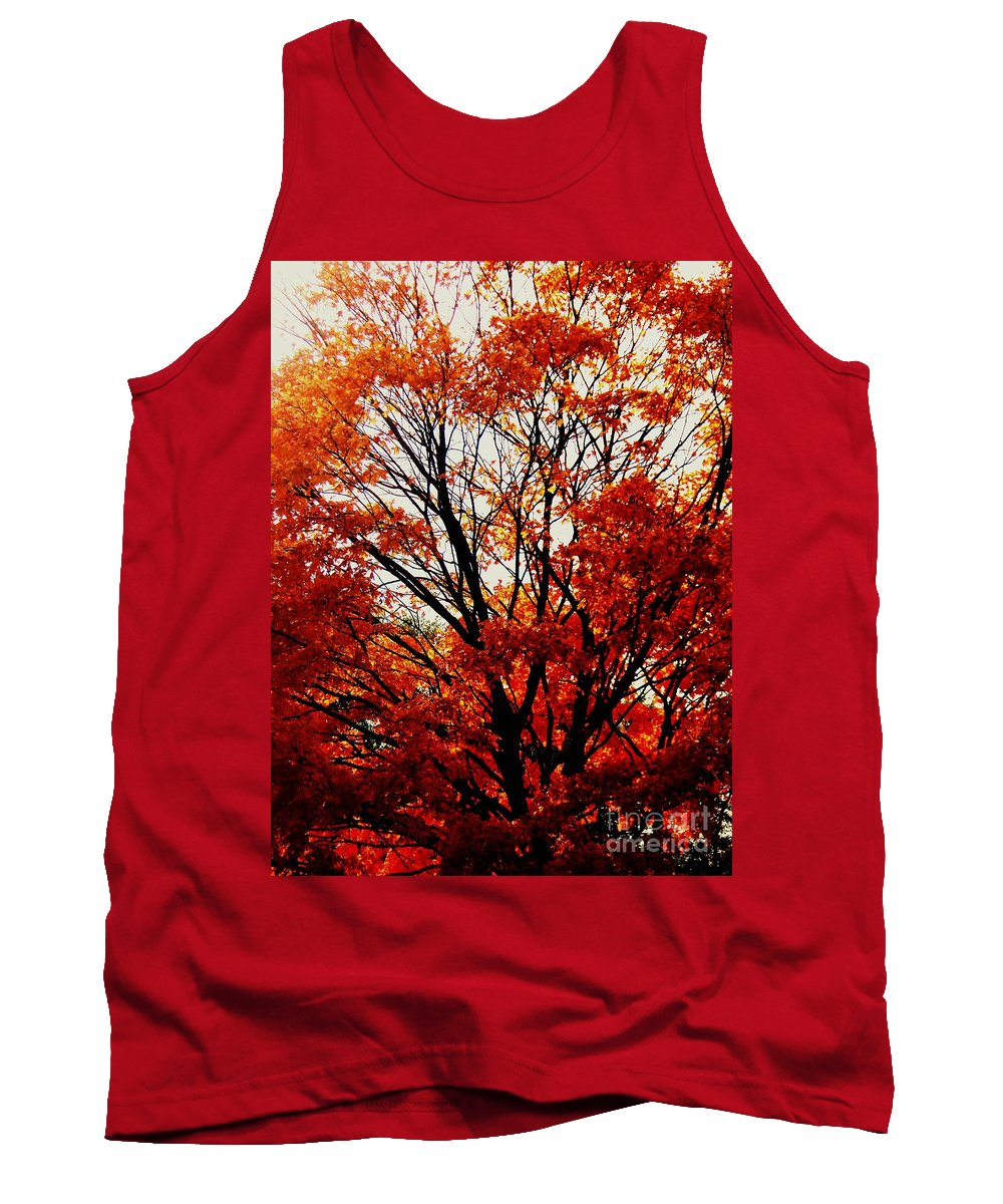 Fall Tank Top featuring the photograph Fall Colors Cape May Nj by Eric Schiabor